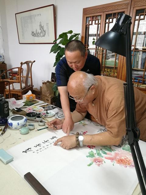 丘程光先生、徐云鹤先生讨论题跋内容