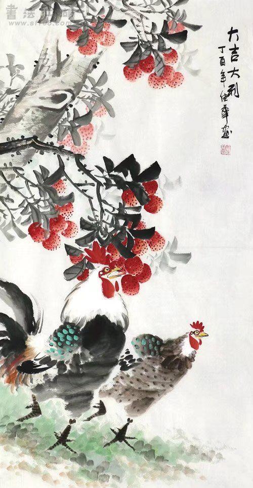 何佳华·三尺竖幅花鸟Z3-42.jpg