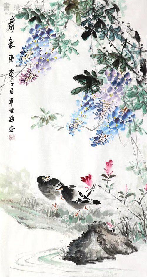 何佳华·三尺竖幅花鸟Z3-32.jpg