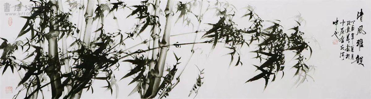 孔庆义·六尺对开墨竹153.jpg