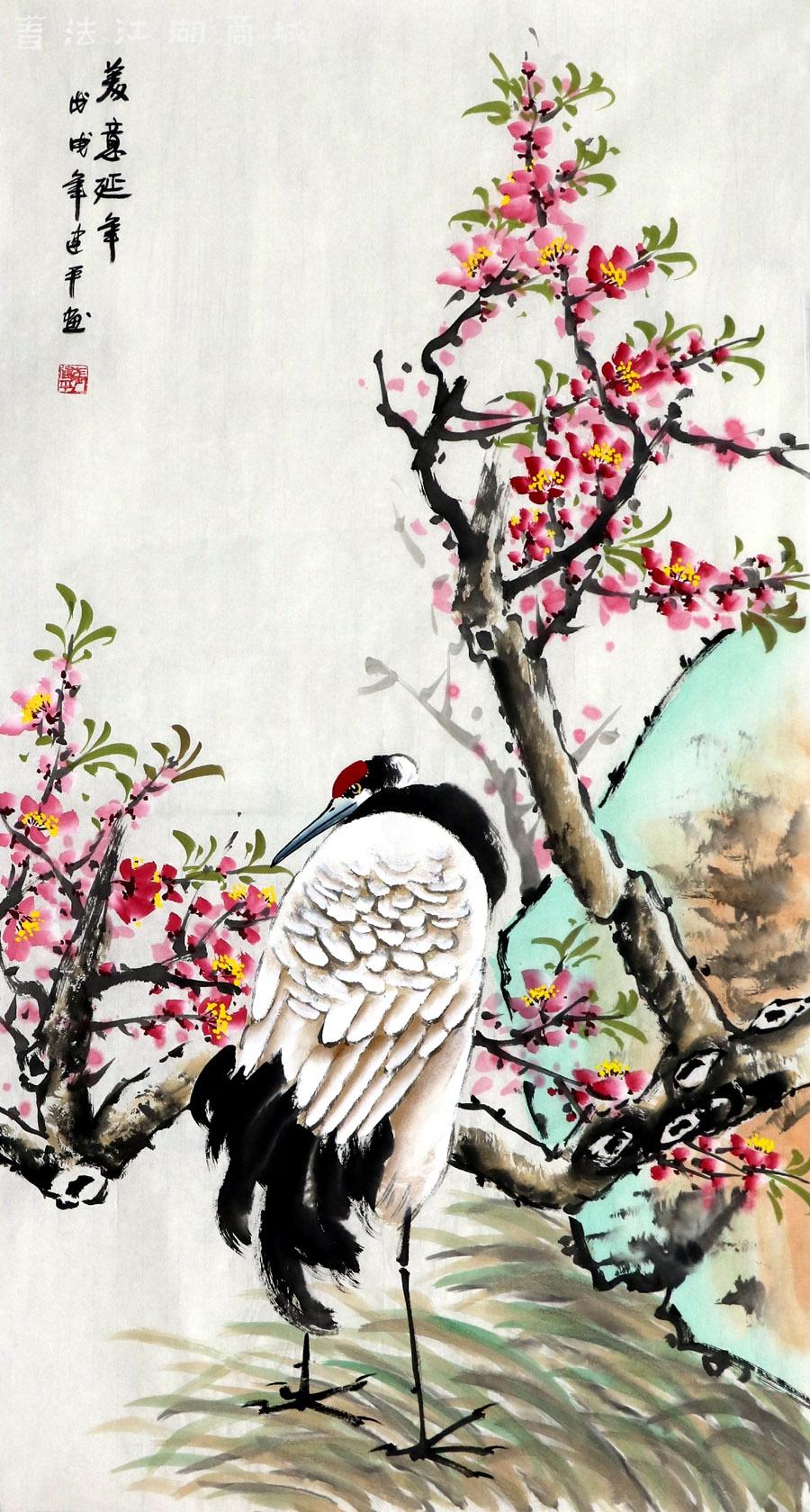 张建平·三尺竖幅写意花鸟03.jpg