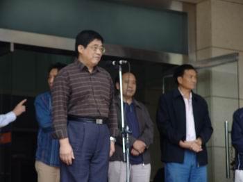 河北省企业文联副主席、秘书长靳亚利先生致辞